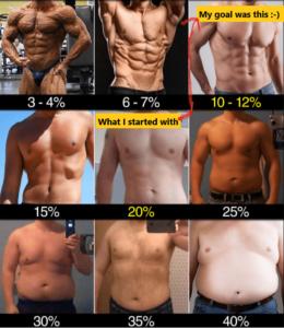 正しい体脂肪率で言うと10%切ってる人はかなり少ない